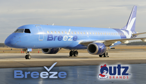 Utz Potato Chips Takes to the Skies with Breeze Airways! Source: Utz Brands, Inc.