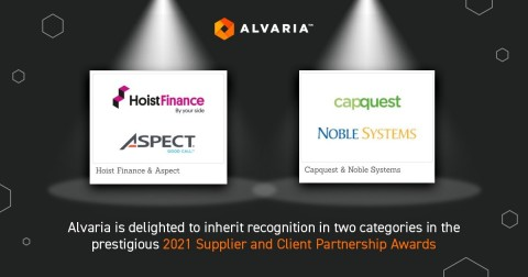 Alvaria is delighted to inherit recognition in two categories in the prestigious 2021 Supplier and Client Partnership Awards (Photo: Business Wire)
