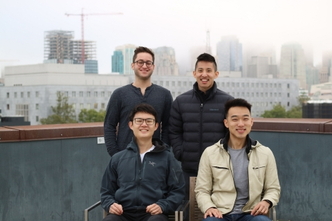 Beacons Founding Team Top (L to R) Greg Luppescu (founding engineer), Neal Jean (CEO) Bottom (L to R) David Zeng (CTO), Jesse Zhang (CPO) (Photo: Business Wire)