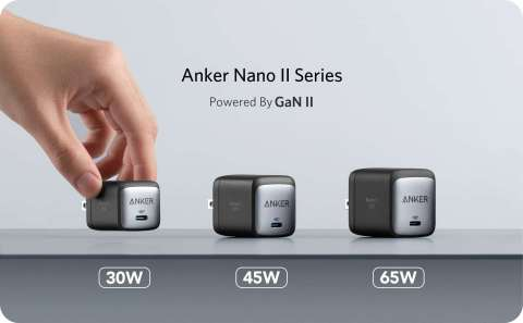Anker selects zero voltage switching InnoSwitch4-CZ ICs with PowiGaN technology for new ultra-compact 30, 45 & 65 W USB-C Nano II charger series (Photo: Business Wire)