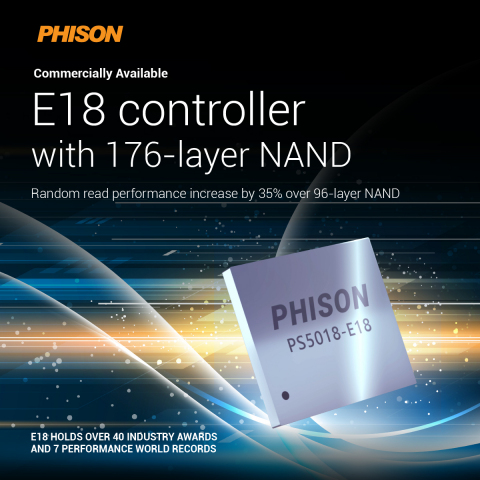 Phison E18 controller with 176-layer NAND is now commercially available (Photo credit: Phison)