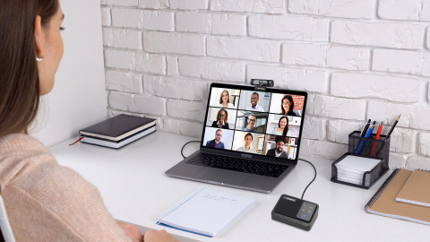 Enjoy work from home calls undisturbed by background noise. (Photo: Business Wire)