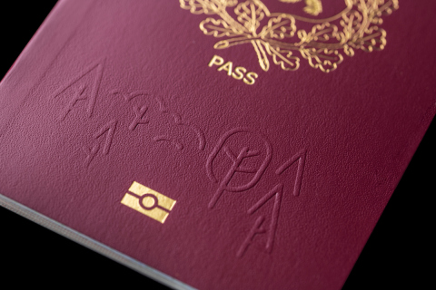 Redesigned by HID Global, Estonia issues a unique and improved ePassport booklet. (Photo: Business Wire)