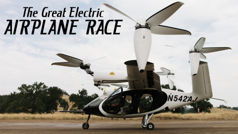 Caption: Joby Aviation's vertical takeoff electric aircraft Credit: Courtesy of WGBH Educational Foundation