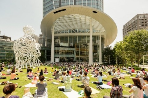 Oval Plaza at Toranomon Hills Mori Tower (Photo: Business Wire)