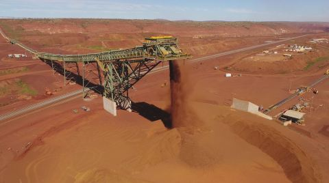 Fluor's South Flank project achieved first ore on time and within budget. (Photo: Business Wire)