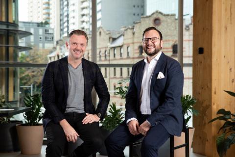 Matthew Coates, Accenture Australia & New Zealand Cloud First Lead & Con Zeritis, CEO of Industrie&Co. (Photo: Business Wire)