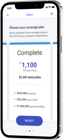 Obie unveiled its new insurance offering targeting landlords and investment property owners. Its innovative technology and approach means Obie's policyholders can save up to 25-30% off their existing insurance premiums. (Photo: Business Wire)