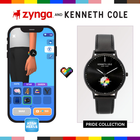 Kenneth Cole and Zynga to Bring First-of-its-Kind Pride Month Partnership to Rollic's Hyper-Casual Game High Heels! (Graphic: Business Wire)