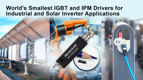 World's smallest IGBT and IPM drivers for industrial and solar inverter applications (Graphic: Business Wire)