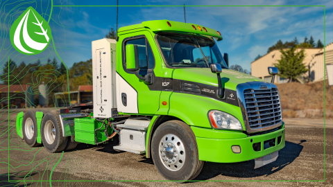 Hyliion's Hybrid CNG-equipped truck delivered more power, enhanced performance, greater sustainability, and improved operating costs for fleet owners participating in NW Natural's truck loan program.  (Photo: Business Wire)