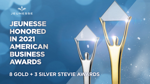 Jeunesse® receives 8 Gold and 3 Silver Stevie Awards in the 2021 American Business Awards. (Photo: Business Wire)