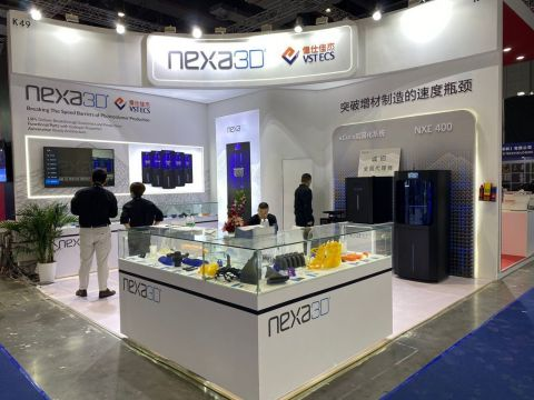 Nexa3D and VSTECS exhibiting together (Photo: Business Wire)