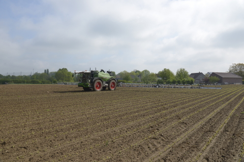 The targeted spraying proof of concept implemented on Fendt Rogator application equipment with technology from AGCO, Bosch, xarvio Digital Farming Solutions powered by BASF and Raven Industries Inc. (Photo: Business Wire)