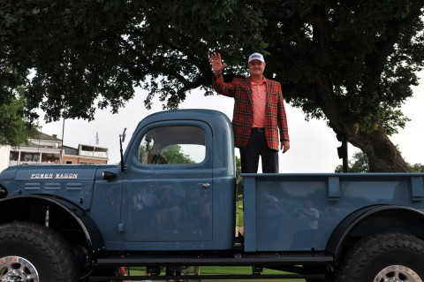 2021 Charles Schwab Challenge champion, Jason Kokrak, was awarded a 1946 Schwab Power Wagon after his victory at the conclusion of today's tournament. (Photo: Business Wire)