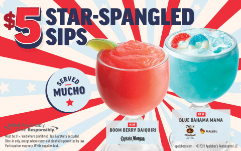 Light Up Your Summer with Applebee's NEW $5 Star-Spangled Sips (Photo: Business Wire)