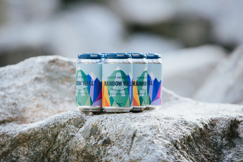WORLD CUP GOLD MEDALIST AND LGBTQI+ ACTIVIST ALEX JOHNSON PARTNERS WITH ATHLETIC BREWING TO CREATE LIMITED-RELEASE BLOOD ORANGE IPA, RAINBOW WALL. (Photo: Business Wire)
