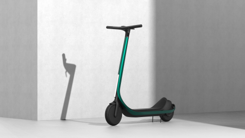 Commute without compromise! Scotsman is breaking the mold with the world's first 3D printed carbon fiber composite scooter. (Photo: Business Wire)
