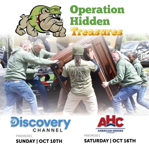New TV series, Operation Hidden Treasures, follows hard-working Military Veterans as they find, recycle, and transform junk into treasures. Series premieres on Sunday, Oct. 10, 2021 at 8 a.m. Eastern on Discovery Channel. (Photo: Business Wire)