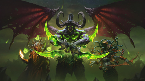 Kael'thas Sunstrider (left), Illidan Stormrage (center), and Lady Vashj (right) from Blizzard Entertainment's World of Warcraft: Burning Crusade Classic (Graphic: Business Wire)