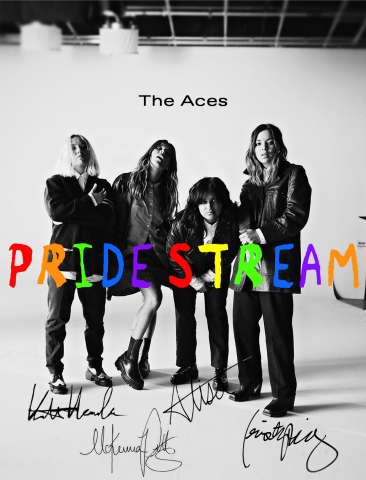 eMusic Live and The Aces collaborate to bring NFTs to their PRIDESTREAM (Photo: Business Wire)