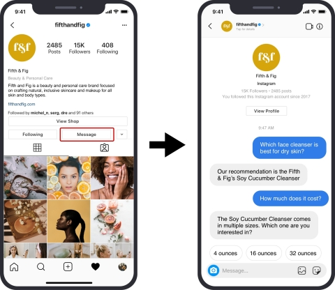 Messenger API support for Instagram with Pypestream (Photo: Business Wire)