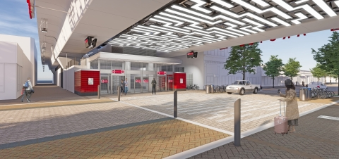 Fluor joint venture breaks ground on Chicago Transit Authority Red Line stations and tracks. This is an artist rendering of the Argyle Underpass Auxiliary Station. (Photo: Business Wire)