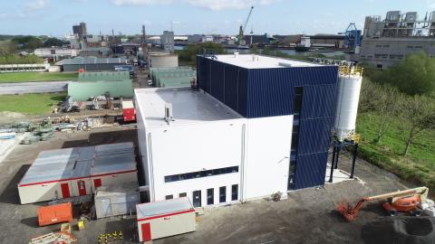 Vue aérienne du site de recyclage PolyStyreneLoop à Terneuzen aux Pays-Bas (Photo : Business Wire)