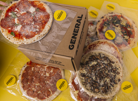 GA Pizza's direct-to-consumer pizza subscription delivers stacks of 4, 6, 8 or 10 of their premium, frozen pizzas. The chef-made artisanal freezer-to-table CPG line is also available at grocery stores, and features 9 pizzas—including 7 plant-based or meat-free options, and caters to consumers' need for convenient, better-for-you products, without compromise. GA Pizza is now trading on TSX Venture Exchange, TSXV:GA. (Photo: Business Wire)