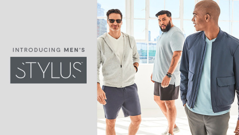 The all-new men's Stylus™ line makes it easy to build a head-to-toe look that comfortably elevates the everyday. With sizes ranging from S to 5XLT, Stylus offers cleverly styled, modern comfort and appeal for all men. (Photo: Business Wire)