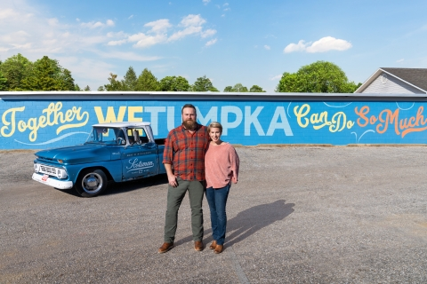 Ben and Erin Napier give Wetumpka, Alabama, a makeover in their new HGTV six-episode event series, Home Town Takeover. (Photo: HGTV)