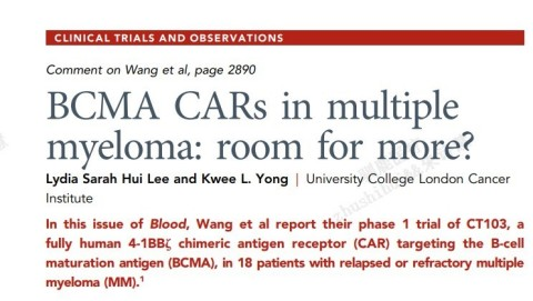 Screenshot of review article (source: Blood homepage)