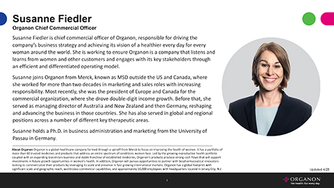 Susanne Fiedler, Chief Commercial Officer Bio (Document: Business Wire)
