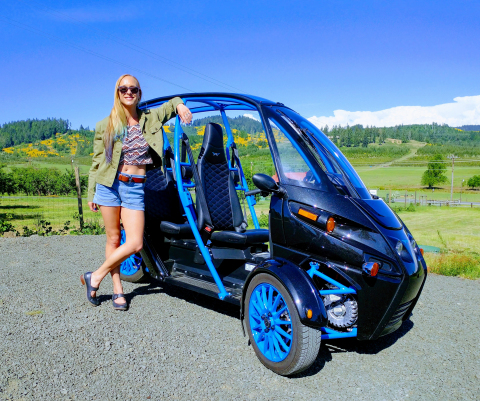 See the Pacific Northwest like never before: from the cockpit of an FUV, now available for rent at Arcimoto Eugene. (Photo: Arcimoto, Inc.)