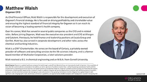 Matt Walsh, CFO Bio (Document: Business Wire)