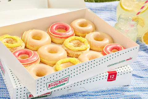 Refreshing lineup includes four doughnuts available for a limited time beginning June 7 and BOGO FREE Lemonade Glazed Doughnut on National Best Friend Day, June 8 (Photo: Business Wire)