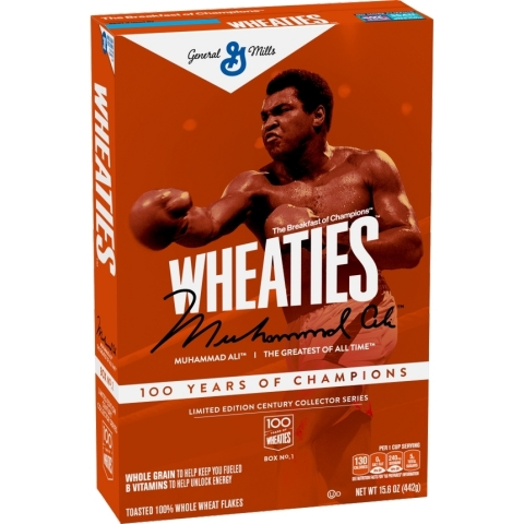 Wheaties celebrates 100 years with launch of Century Box Series, bringing back cover athletes who inspire the next generation of champions, starting with 'The Greatest' Muhammad Ali. (Photo: Business Wire)