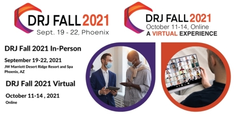Disaster Recovery Journal returns with an in-person conference Sept. 19-22, 2021, in Phoenix. DRJ will host another virtual conference three weeks later, Oct. 11-14, 2021. (Graphic: Business Wire)