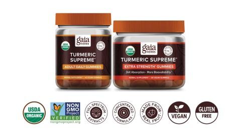 Gaia Herbs Turmeric Supreme Gummies (Photo: Business Wire)