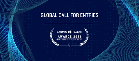 Garmin® announced a global call for entries for its 2021 Garmin Health Awards in celebration of the world's most innovative solutions that successfully leverage the power of Garmin wearable technology into health or wellness programs. Winners from each of three separate categories will be announced at the 2021 Garmin Health EMEA Summit on Oct. 28-29 in Lisbon and each winner will receive 50 Venu® Sq Garmin smartwatches worth an estimated $10,000. (Graphic: Business Wire)
