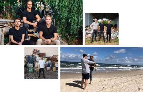 CLEANHUB Gründer Florin Dinga, Joel Tasche und Bosse Rothe (Graphic: Business Wire)