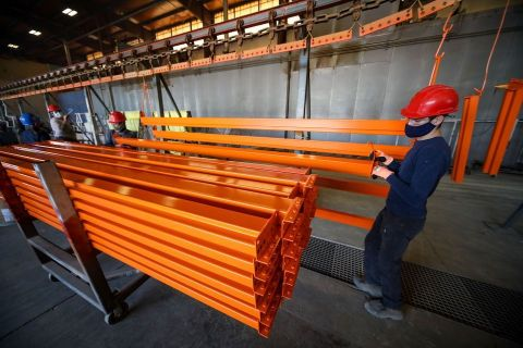 Finished rack being prepared to ship by Hannibal employees in Houston (Photo: Business Wire)