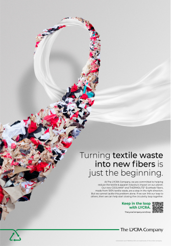 The LYCRA Company's campaign to help drive awareness and collaboration around circularity. (Photo: Business Wire)