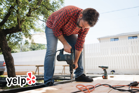 This Father's Day, Yelp will help dad finish that deck project by leaving it to the pros. (Photo: Business Wire)