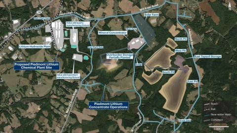 Figure 3 - Indicative proposed site plan for Piedmont's Carolina Lithium operations (Graphic: Business Wire)