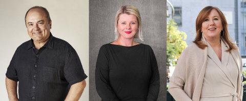 Brent Scrimshaw, Enero Group CEO; Heather Kernahan, Hotwire Global CEO; Barbara Bates, Senior Advisor, Enero Group. (Photo: Business Wire)