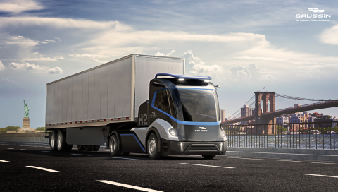 Hydrogen version of the Gaussin skateboard truck (Photo: Business Wire)