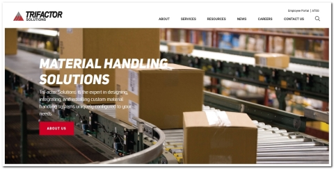 TriFactor Solutions' new website features a streamlined design, improved functionality, and new tools to get customers timely responses to their material handling design needs. (Photo: Business Wire)