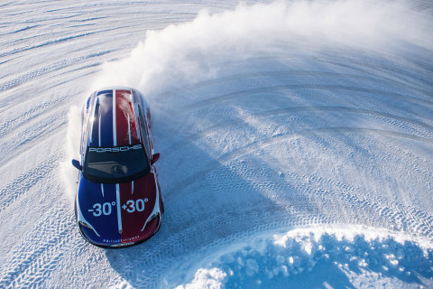 Porsche's hero film features groundbreaking FPV drone cinematography capturing epic driving moments, extreme landscapes and genuine, compelling human performances (Photo: AETOSWire)