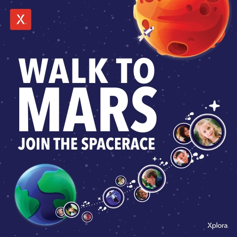 Join children around the world as Xplora challenges them to join the spacerace and walk to Mars (Photo: Business Wire)